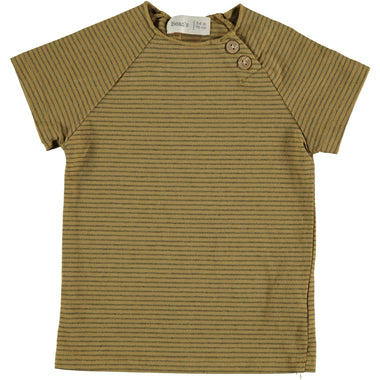 Bean's Clover Striped T-shirt | Mustard
