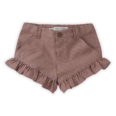 Sproet & Sprout Ruffle Short | Mini Check