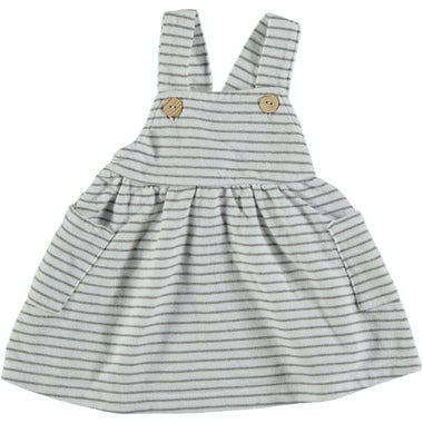 Bean's Squid Striped Summer Fleece Dress | White