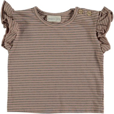 Bean's Clam Striped T-shirt | Pink