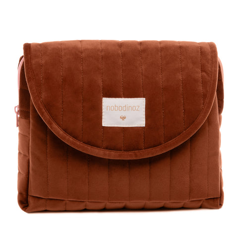 Savanna Velvet Maternity Case | Wild Brown