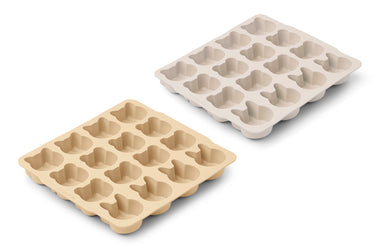 Liewood Sonny Ice Cube Tray 2-pack | Wheat Yellow Sandy Mix
