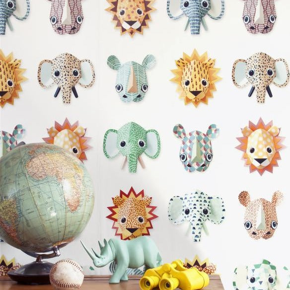 Studio Ditte Behangpapier | Wild animals cool