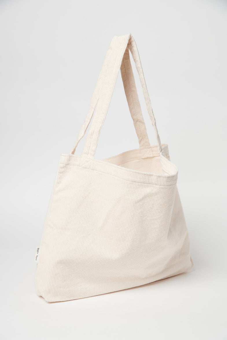 Studio Noos Mom Bag | Old White Rib