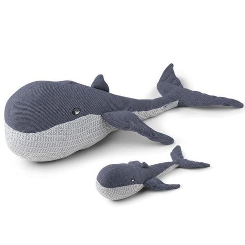 Liewood Doby Teddy With Baby | Whale Blue Wave