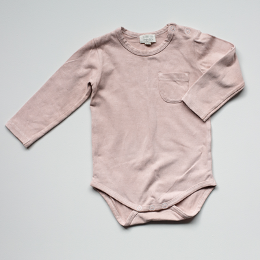 The Simple Folk The Long Sleeve Onesie | Antique Rose