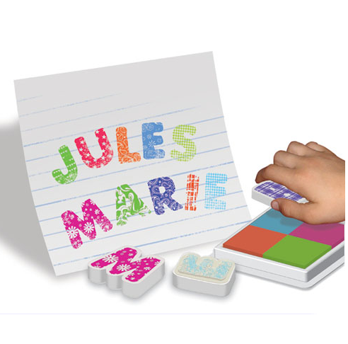 Stempel set ABC - DE GELE FLAMINGO - 2