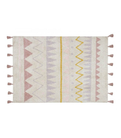 Lorena Canals machinewasbaar tapijt 120x160cm Azteca Natural Vintage Nude Medium
