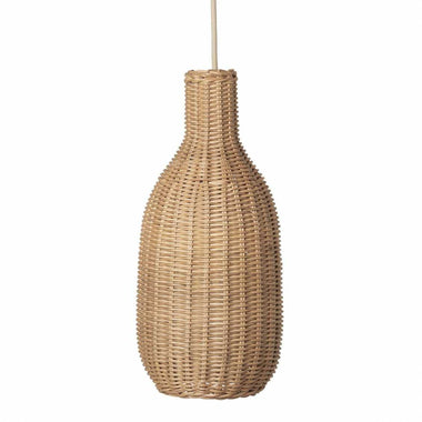 Ferm Living Braided Lampshade Hanglamp Bottle Natural