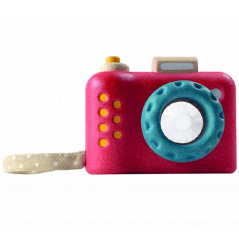 Plantoys Houten camera - DE GELE FLAMINGO - 2