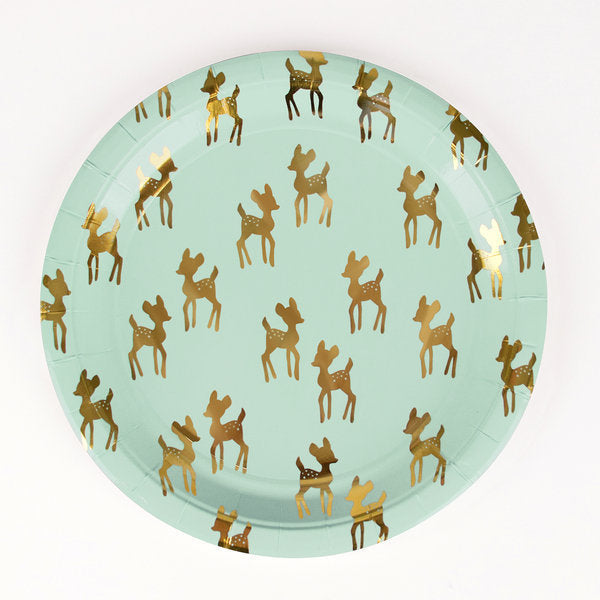 Set 8 kartonnen bordjes golden fawns