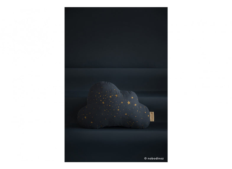 Nobodinoz kussen Cloud 24x38cm | Gold Stella/ Night Blue