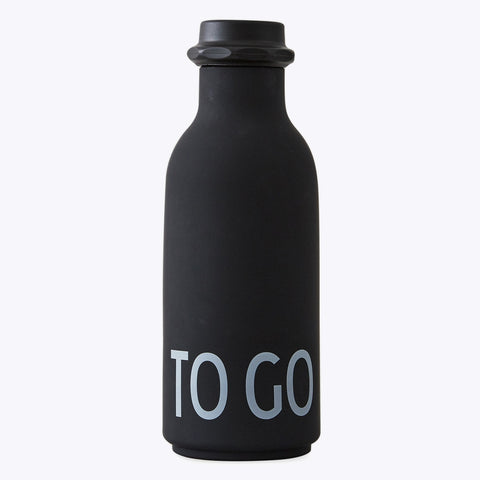 Design Letters Drinkfles To Go | Black