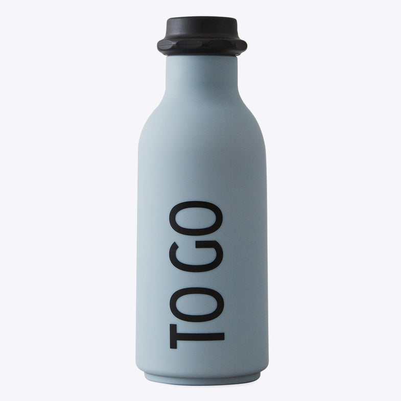 Design Letters Drinkfles To Go | BLue