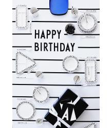 Design Letters Happy Birthday katoenen tafelkleed