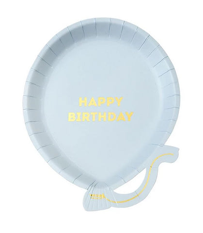 Talking Tables Set 12 kartonnen bordjes | Blue Balloon Happy Birthday