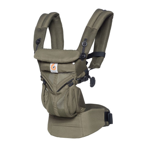 Ergobaby 4 position draagzak 360 OMNI Khaki Green Cool Air Mesh