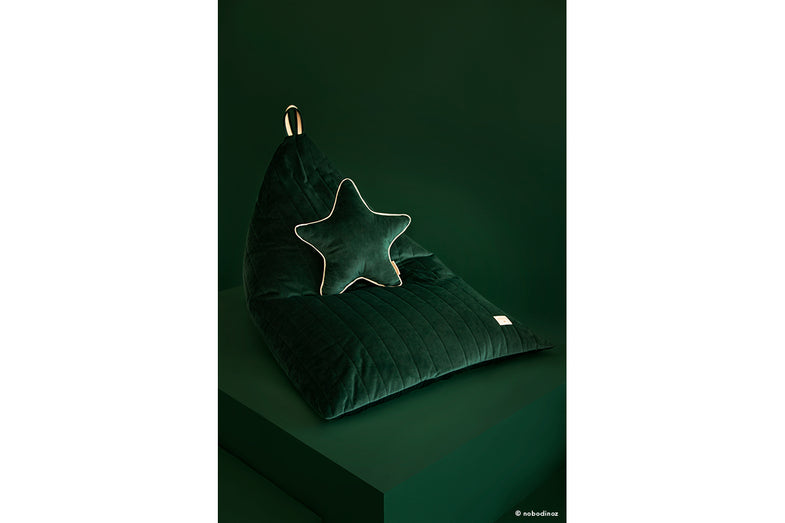 Nobodinoz Aristote Velvet Kussen 40cm | Jungle Green