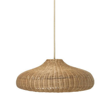 Living Braided Lampshade Hanglamp Disc Natural