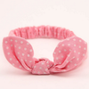 Fashion haarband dotties pink - DE GELE FLAMINGO - 1
