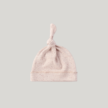 Susukoshi Knotted Hat | Beige Speckled