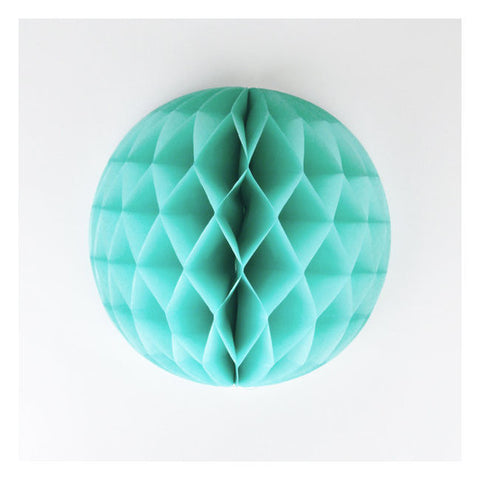 Honeycomb ball mint 20cm - DE GELE FLAMINGO