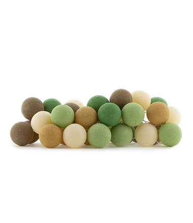 Cotton Ball Lights Lichtslinger 35 stuks - Forest Green