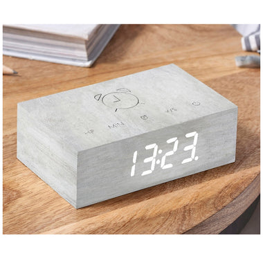 Gingko Flip Click Clock | White Birch