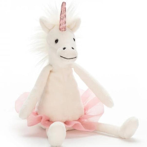 Jellycat knuffel Dancing Darcey Unicorn - Medium 33cm