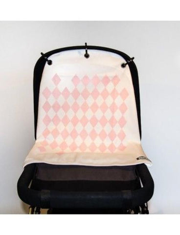 Kurtis pram curtain Diamond Pink