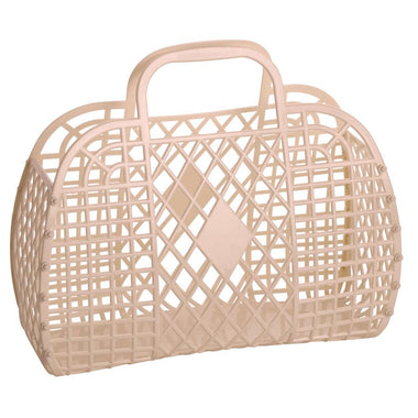 Sunjellies Retro Basket Large | Latte