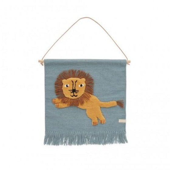 OYOY Living Jumping Lion Wallhanger