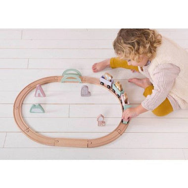 Little Dutch houten treinbaan adventure Pink
