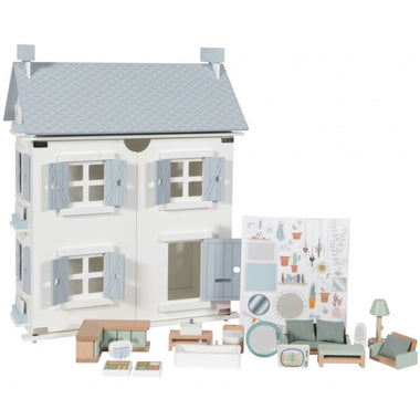 Little Dutch 25-delig Houten Poppenhuis