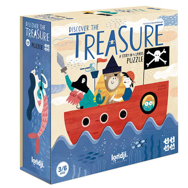 Londji Set van 4 puzzeltjes | Discover The Treasure