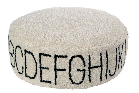 Lorena Canals Pouffe ABC Natural Black 20 x 70 x 70 cm