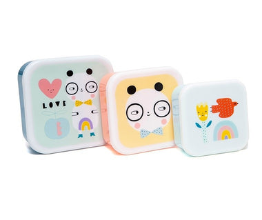Petit Monkey Set 3 snack boxen Panda Love