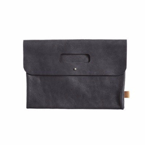Mies & co diaper clutch leather black - DE GELE FLAMINGO - Kids concept store