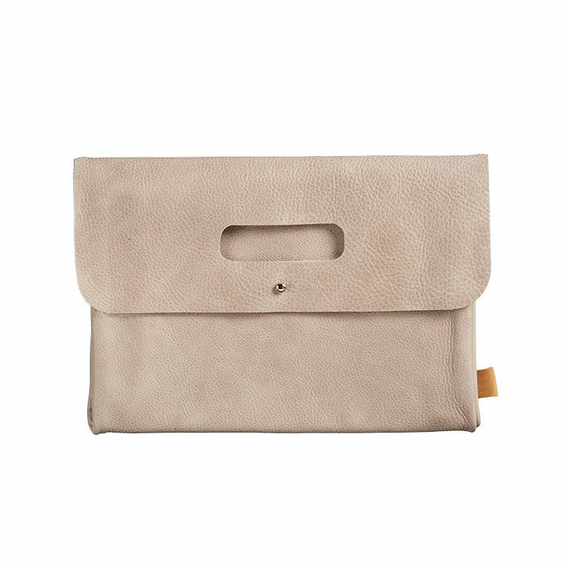 Mies & co diaper clutch leather taupe - DE GELE FLAMINGO - 1