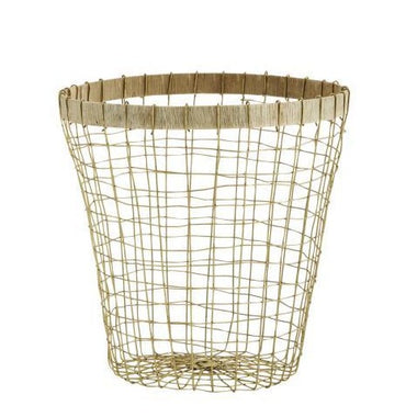 Madam Stoltz Wire Basket | Hout