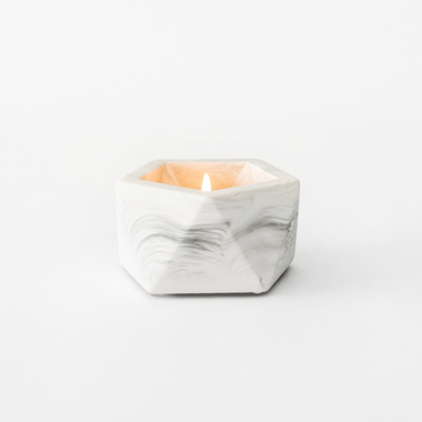 House Raccoon Vand Theelichthouder | White Marble