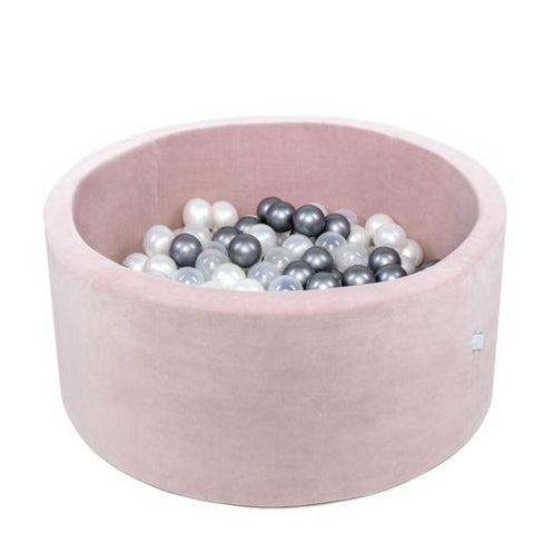 Misioo ballenbad XL rond velours Pink