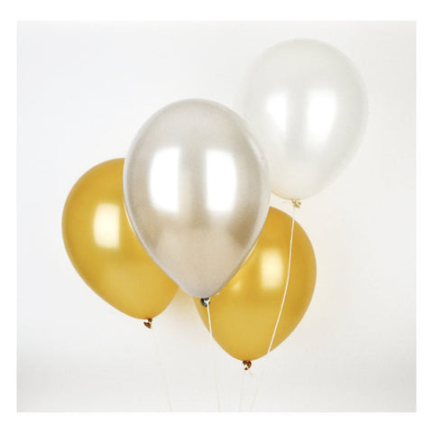 Set 10 ballonnen Metallic Gold - DE GELE FLAMINGO
