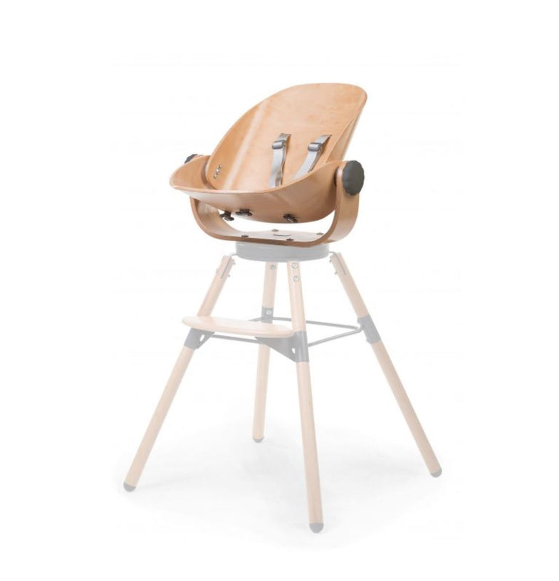 Childhome EVOLU - Wood Rock newborn seat naturel - antraciet