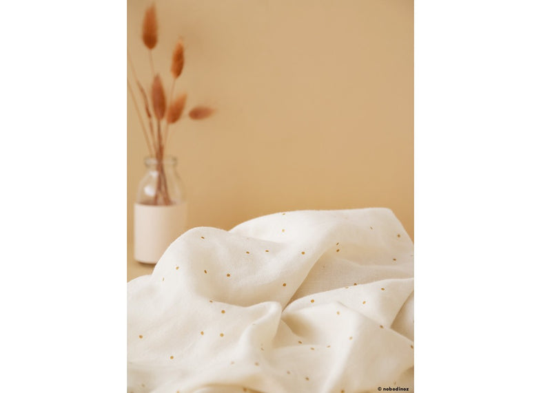 Nobodinoz swaddle 100x120cm Butterfly - Honey Sweet Dots