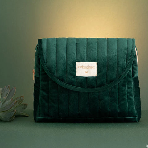 Savanna Velvet Maternity Case | Jungle Green