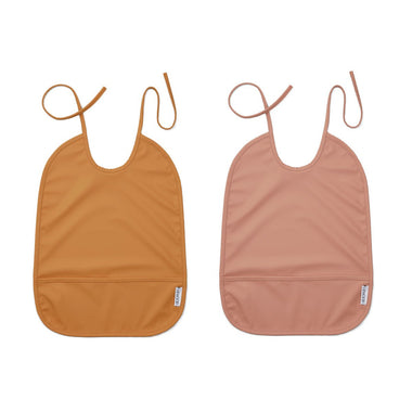 Liewood Lai Waterproof Set 2 Slabben | Dark Rose/Mustard