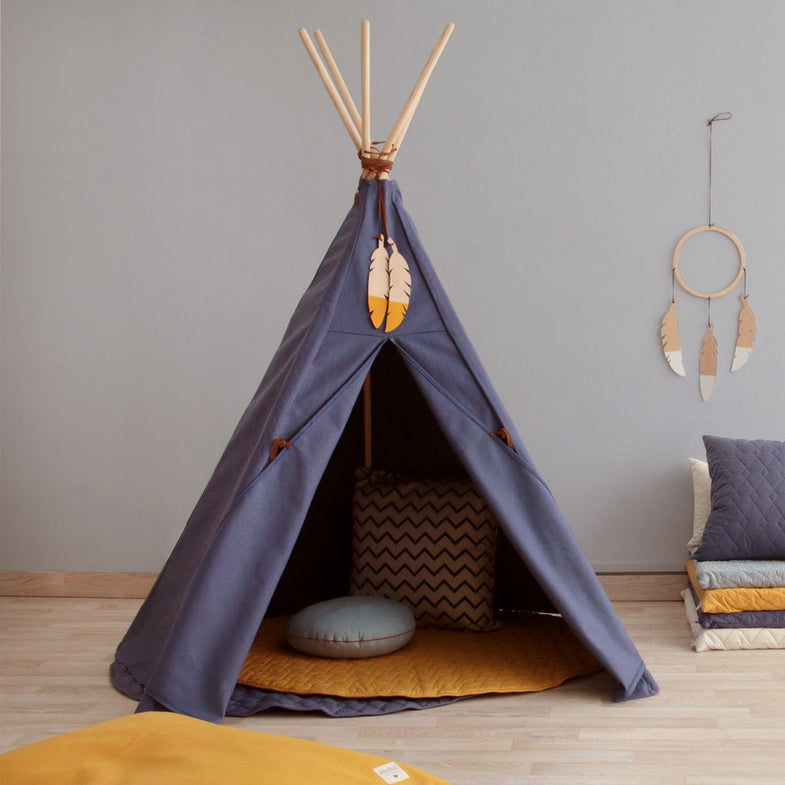 Nobodinoz tipi large Aegan Blue - DE GELE FLAMINGO - 2