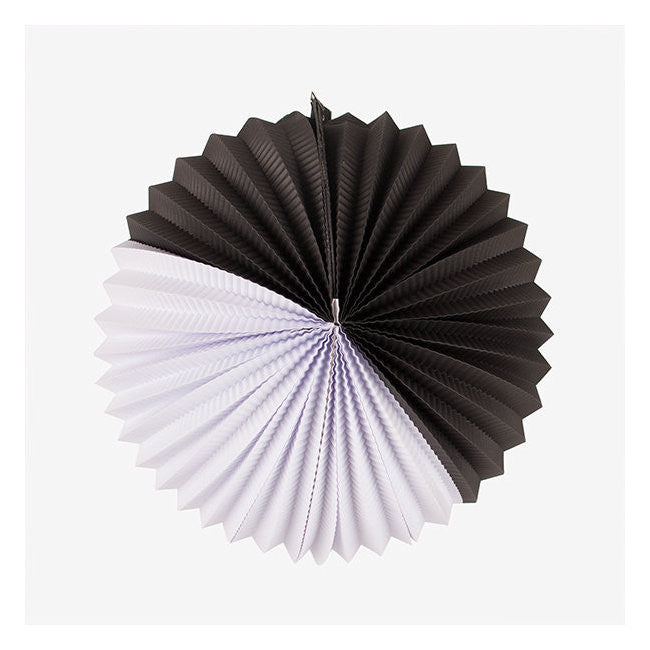 Paper lanterns white & black 27cm - DE GELE FLAMINGO