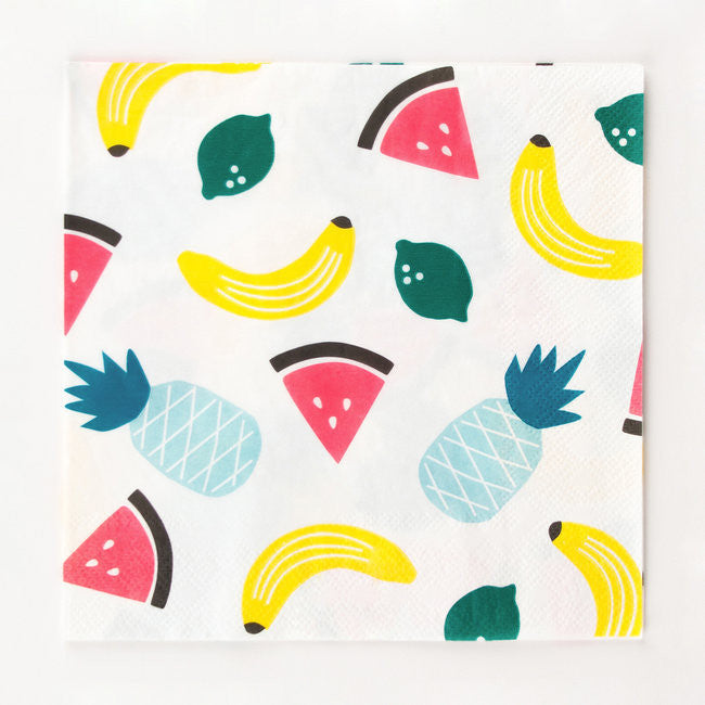 Set 20 papieren servetten Fruity - DE GELE FLAMINGO - Kids concept store